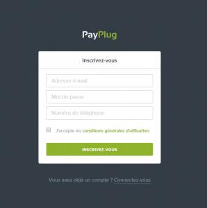 Passerelle de paiement PayPlug