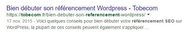 optimisation description title seo